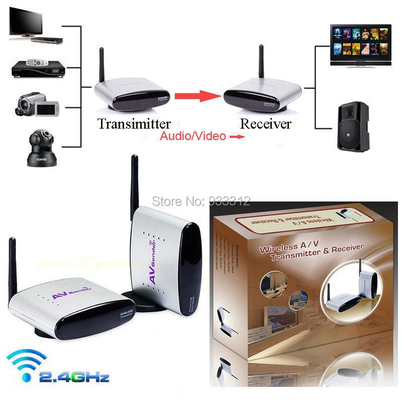 FCC CLASSB Certificated 5.8 GHZ 150m 2.4GHZ Wireless AV Sender TV Audio Video Transmitter Receiver/FREE SHIPPING(China (Mainland))
