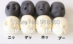 Novelty toys funny gadgets,4 pcs/set human face ball Anti-stress tool for office workers,stress relievers toy,japanese idea
