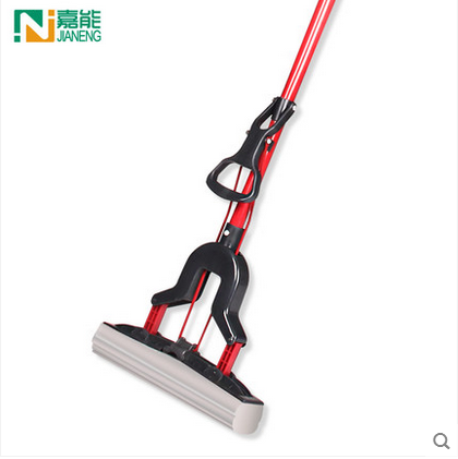 Free Shipping To Fold Squeeze Water Sponge Mop, Stainless Steel Rod Rubber Can Stretch Cotton Absorbent Mop, Mops Floor Cleaning(China (Mainland))