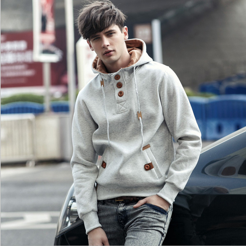 Free Shipping 2015 NEW brand sports hoodies men fleece Fashion men's warm Hoodies Sweatshirts Suit Hoody jacket 5 colors 6114(China (Mainland))