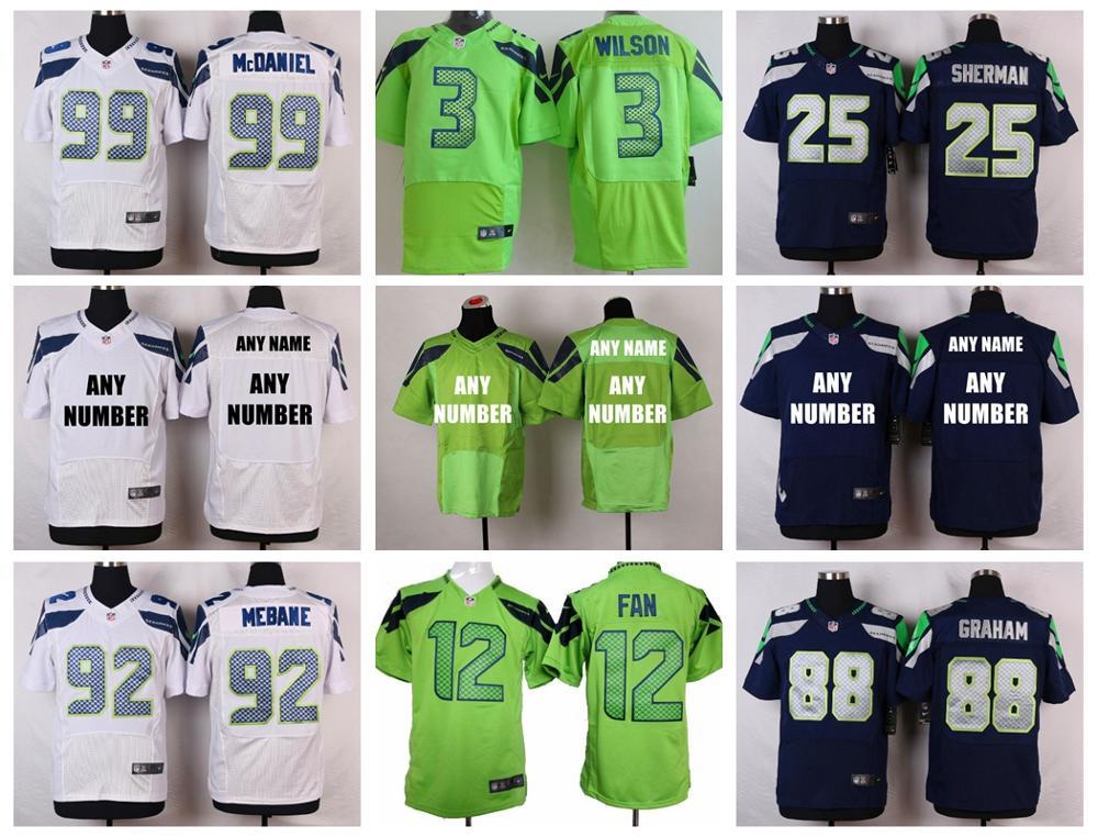 Stitiched,Seattle Seahawks,Marshawn Lynch,Richard Sherman,Russell Wilsons,Jimmy Graham,Earl Thomas,Steve Largent,customizable(China (Mainland))