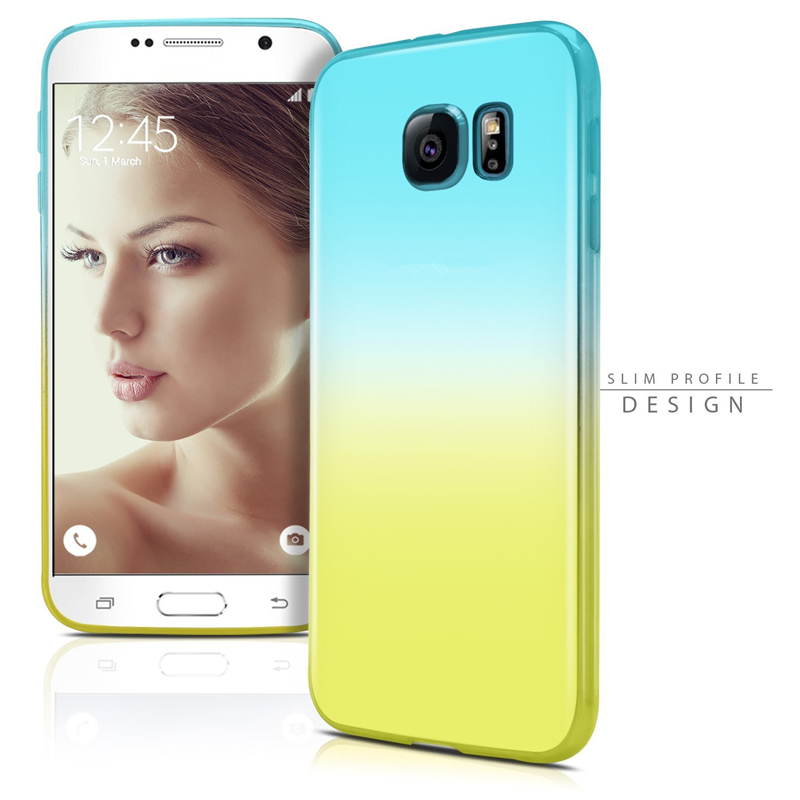 Luxury Gradual Change soft Ultra Thin TPU case For Samsung Galaxy S3 S3 mini S4 S5 S6 S6 edge S6 edge plus S7 S7 edge tpu cover(China (Mainland))