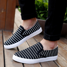 Led Shoes Zapatillas Deportivas Mujer Yeezy Spring And Lazy Shoes Pedal Korean Men Don't Up Casual Flat Male Striped Canvas(China (Mainland))