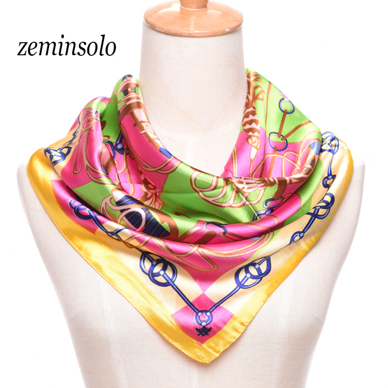 High Quality Imitted Silk Scarves Satin Square 60*60cm Women Scarf Geometric Fashion Shawl Beautiful Scarf Women(China (Mainland))