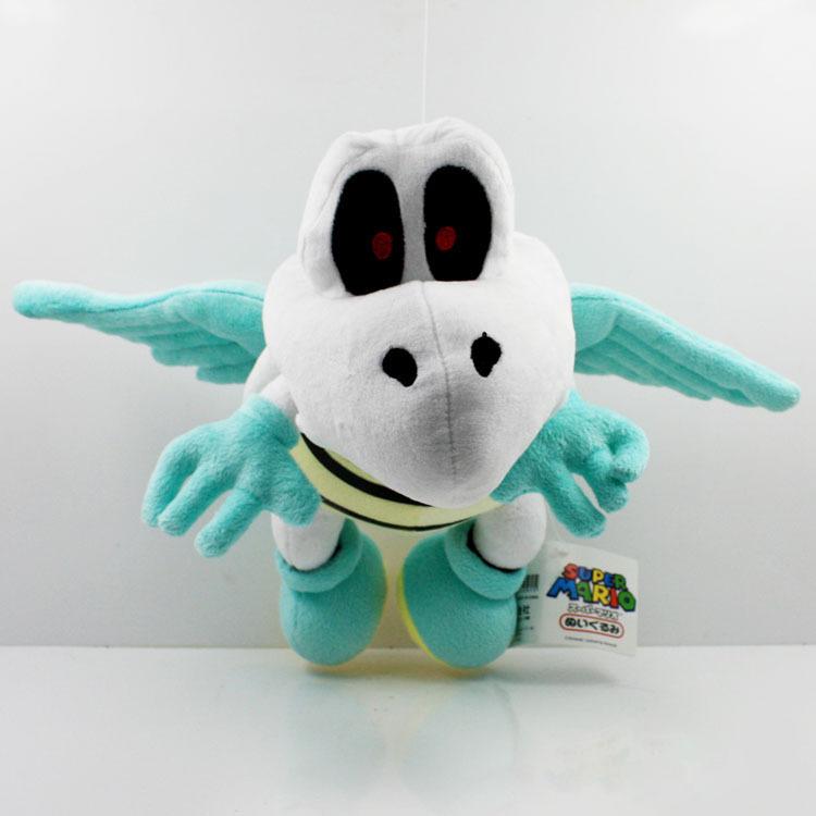 Hot sale New Super Mario 5pcs 30cm Fly Dry Bones Plush Doll Toy Lovely Super mario flying dry bones toy(China (Mainland))