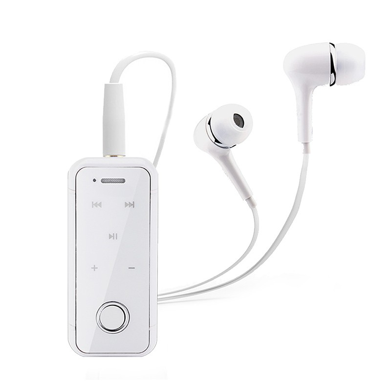 Headset Lavalier Clip On Mini Noise Cancelling Hands Free Sports Stereo Wireless Earphones MIC For Phone Bluetooth Headphone i6s