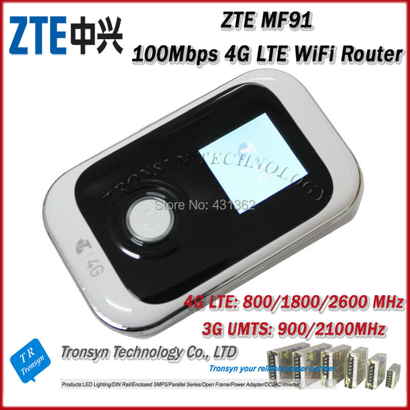 Free Shipping New Original Unlock LTE FDD 100Mbps ZTE MF91D 4G WiFi Router And 4G Mobile Hotspot(China (Mainland))