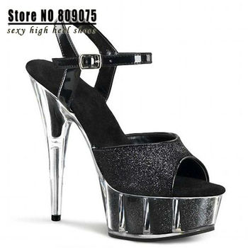 2015 Rushed Ladies Shoes 15cm High-heeled Shoes Sandals Small Yards Women's Club Heels for Women Icnh Shining Particles Pearl