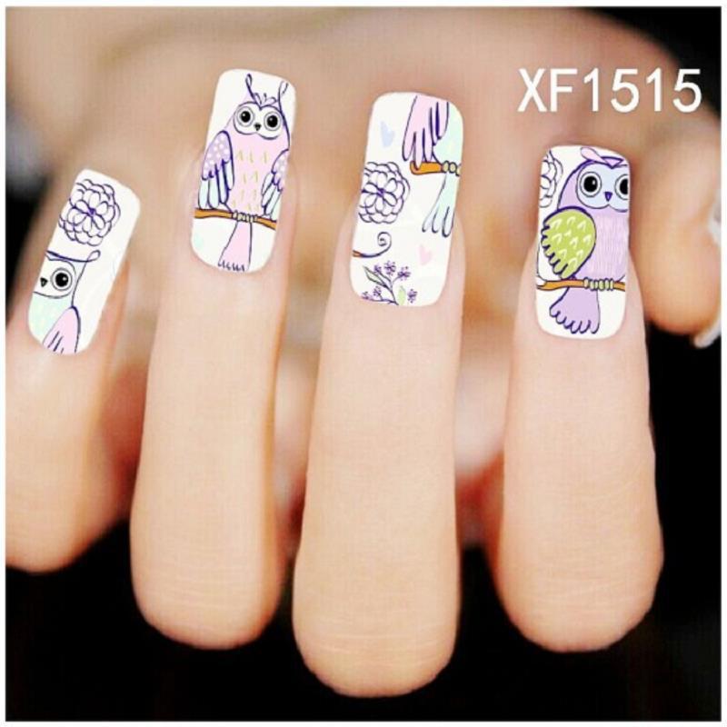 Diy nail art transfers : Diy nail art sticker water transfer decals designer