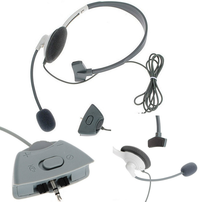 Headset Headphone Microphone for Microsoft Xbox 360 Live Gaming Games Chat Online Mic Headphones # F2024(China (Mainland))