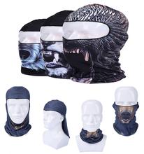 Новый горячая распродажа мода 3D животных печать косплей Cap спорт на открытом воздухе балаклава мотоциклов Hat полный маска бесплатная доставка