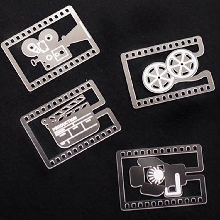 20 PCS/LOT Like A Movie Cute Book Marks Camera Film Reel Slate Movie Lighting Metal Bookmark(China (Mainland))