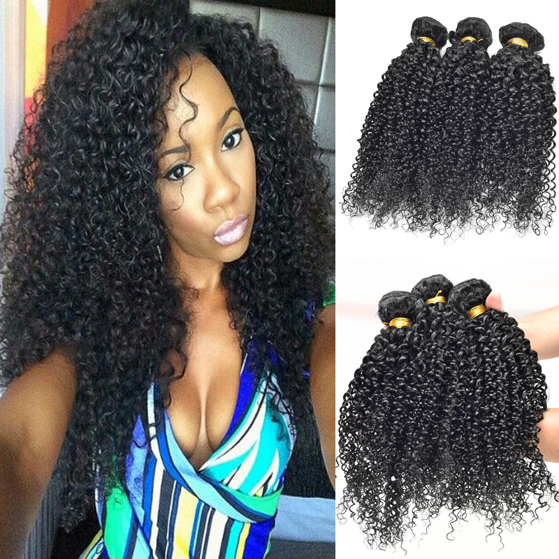 Queen hair products brazilian kinky curly hair remy human hair weave afro kinky curly hair 3pcs lot free shipping mixed length