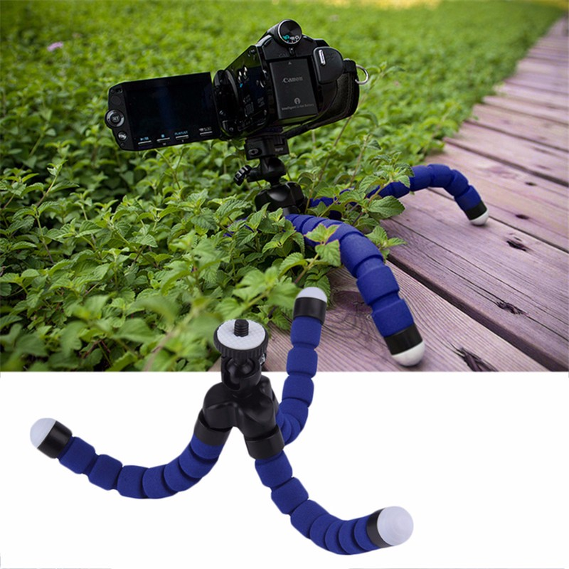 Octopus Tripod Mini Monopod Tripe Site For GoPro Hero 4 SJ4000 Accessories For Xiaomi Yi Mobile Phone Telefon iPhone 6S Camera