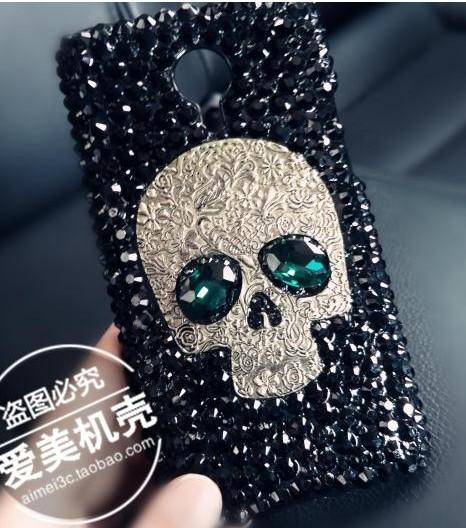 """Cool 3D Skull Skeleton Blue Red Eyes Bling Capa Cases FOR Original Meizu M2 mini M578M 4G FDD LTE 5.0""""(China (Mainland))"""