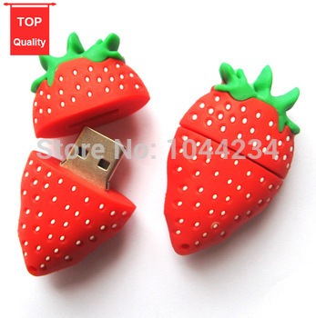 Lovely strawberry gift for girlfriend usb flash drive 4GB 8GB 16GB 32GB pen drive U disk memory stick pen driver(China (Mainland))