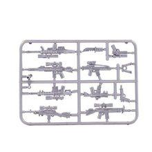 Moc legoinglys pubg militar acessório arma armas peças para mini figura bloco de construção tijolos brinquedos para crianças presente natal(China)
