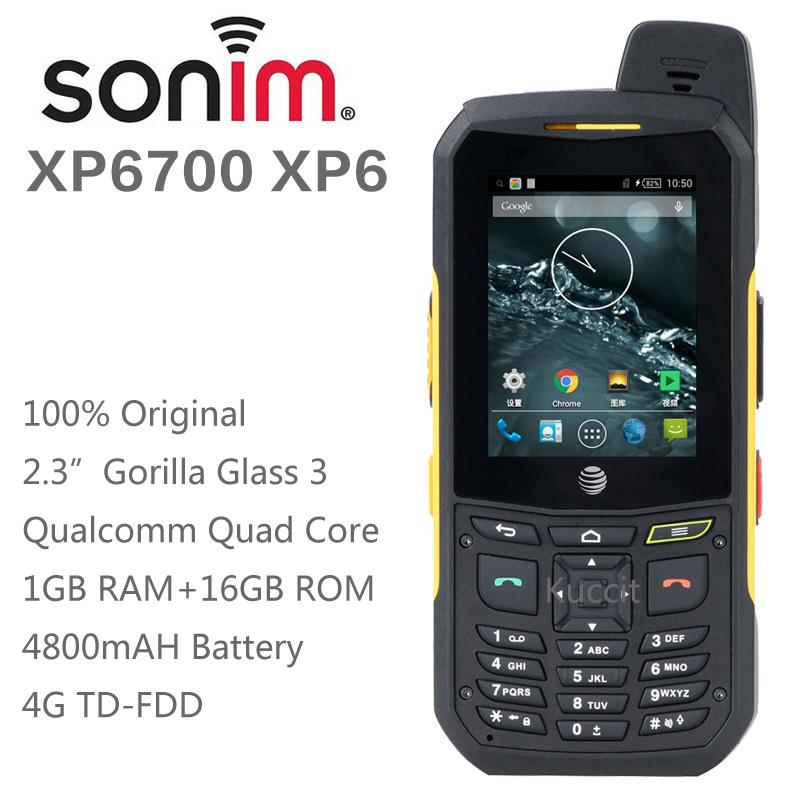 100% original Sonim Xp6 cell phone rugged Android Quad Core waterproof phone shockproof 3g 4g LTE FDD luxury phone Single sim(China (Mainland))