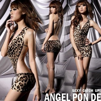 Sexy DS costumes collar dance clothes Leopard installed night games nightclub pole dancing clothing uniform temptation stage sin