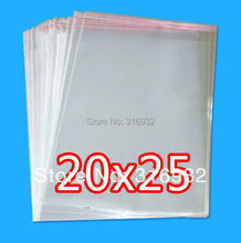 E4 Clear Resealable Cellophane/BOPP/Poly Bags 20*25cm  Transparent Opp Bag Packing Plastic Bags Self Adhesive Seal(China (Mainland))