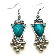 Antique vintage earrings drop earring turquoise earrings(China (Mainland))