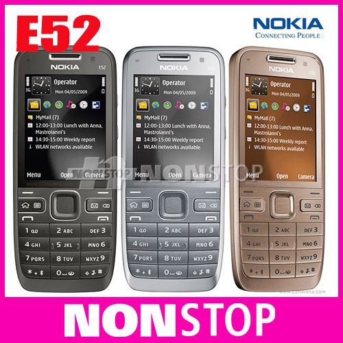 Unlocked Original Nokia E52 Mobile Phone Bluetooth WIFI GPS 3G Cell Phone Russian Keyboard Refurbished in Stock(China (Mainland))