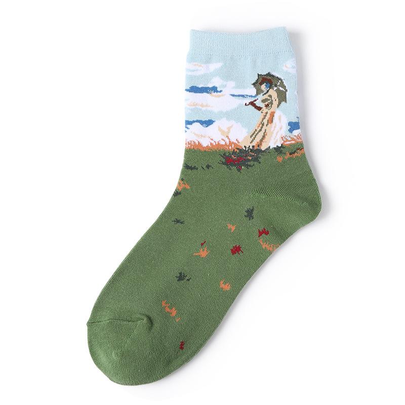 Jia Li Painting Turkey Unisex Funny Novelty Casual Soft Cotton Socks
