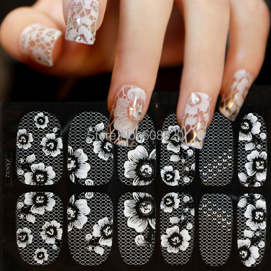 1Style(12Nails) Snakeskin Colorful Sexy Flower Pattern Water Decals Transfer Stickers Nails Art Fingernails Decoration(China (Mainland))