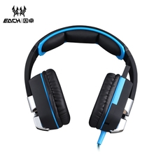 EACH G8200 Super Bass Gaming Headphone 7.1 Surround USB Vibration Game Headset Headband Earphone With Mic LED Light For PC Gamer