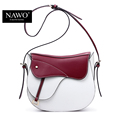 NAWO New Famous Brand Women Messenger Bag Panelled Crossbody Bag Designer Handbag Saddle Patchwork Women s