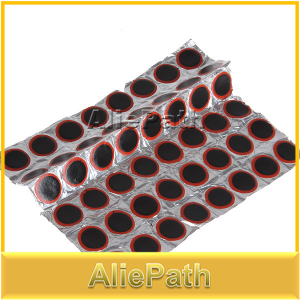 48 x 25mm Round High Quality Rubber Patch For Bike Bicycle Tire / Tyre Repair Piece(China (Mainland))