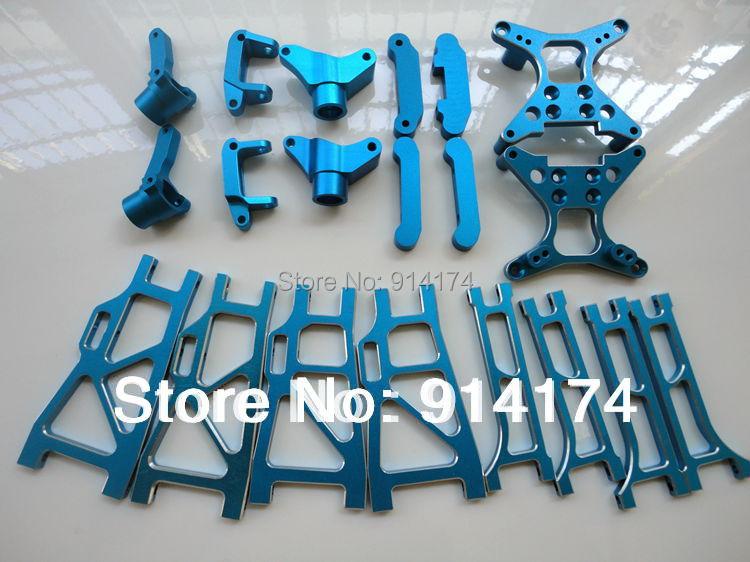 henglong 3851-2 1/10 Mad Truck parts Aluminum CNC Upgrade part metal front arms ect 20pcs/set free shipping(China (Mainland))