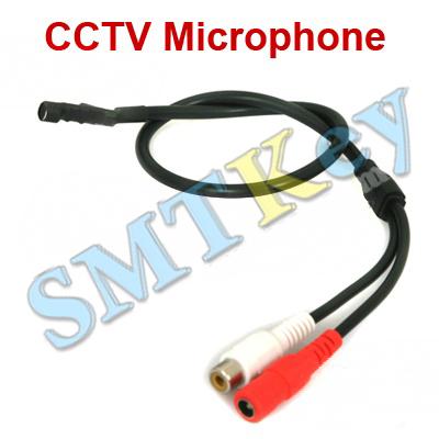 Mini Audio CCTV Microphone Mic RCA Output for CCTV Security System Camera DVR(China (Mainland))