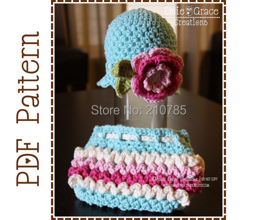 Free Crochet Pattern For Bunny Ears And Diaper Cover : Free-shipping-Crochet-Flower-Hat-and-Ruffle-Diaper-Cover ...