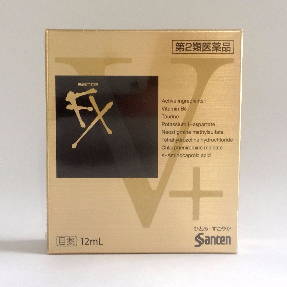 Sante FX V Plus Cooling Eye Drops 12ml Santen from Japan(China (Mainland))