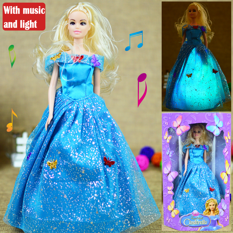 Cinderella doll with music and colorful light change dancing doll jpg