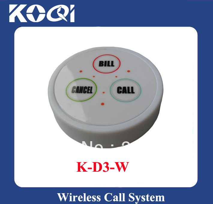 White nurse call button K-D3-White table call bell button Any LOGO any language accept(China (Mainland))