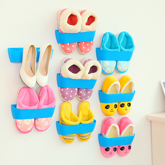 Plastic Shoe Rack Living Room Furniture Creative Fashion High Quality Shoe Rack Shelf Stand Shoe Ark Storage Organizer Wall Rack(China (Mainland))