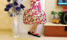 2015 New Fashion Waterproof Oxford Women Colorful Travel Bag Large Hand Luggage Bags G094(China (Mainland))