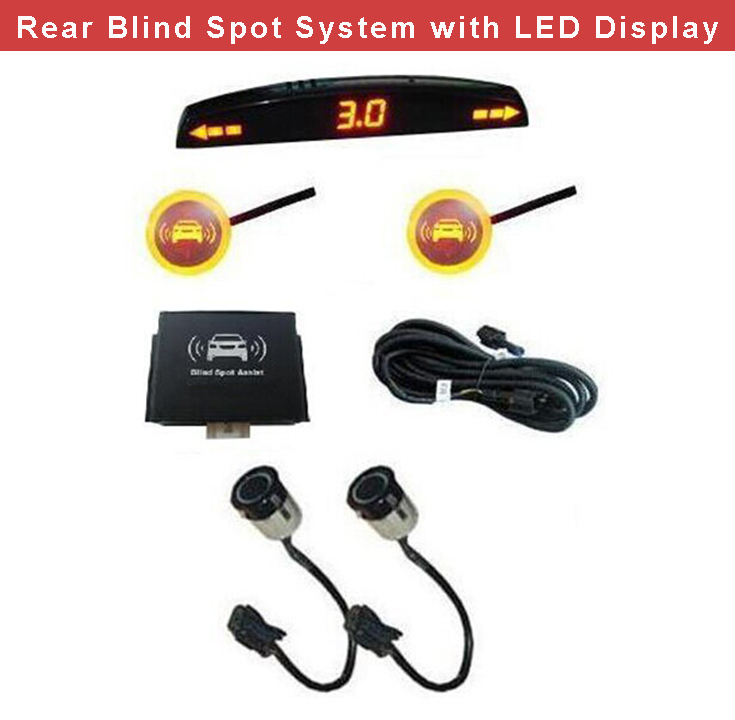 Wholesale 8pcs Good Quality Car Blind Spot Detection Assist System With Universal Parking Sensors and LED Display Hot Sales<br><br>Aliexpress