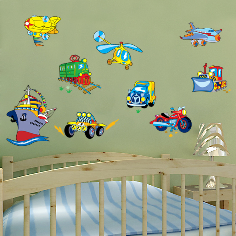 New Cartoon Children's Room Wall Stickers Nursery Decoration Removable PVC Stickers Heart Stickers Transport(China (Mainland))