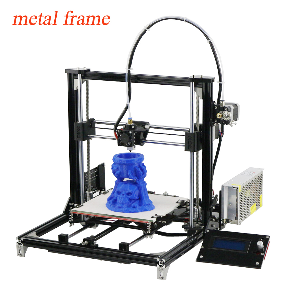 New Large Printing Size 3d Printer Reprap Prusa i3 DIY 3d Printer kit With One Roll