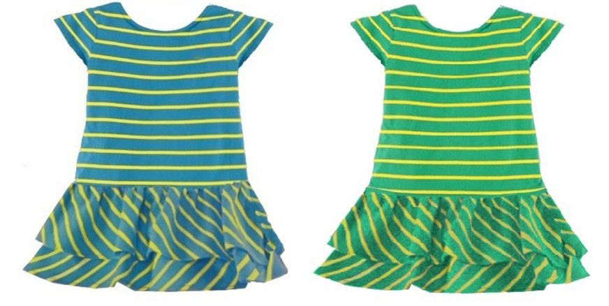 2014 New fashion kids short sleeve POLO striped dress one-piece baby cotton clothing girls dresses girl casual dress 6pcs/lot<br><br>Aliexpress