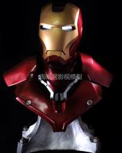 avengers Iron Man Helmet Mk3 1:1 Scale Lights Resin Crafts Mk3 Hero LED Eyes Light Reactor 3D Head Portrait Figure In Stock(China (Mainland))