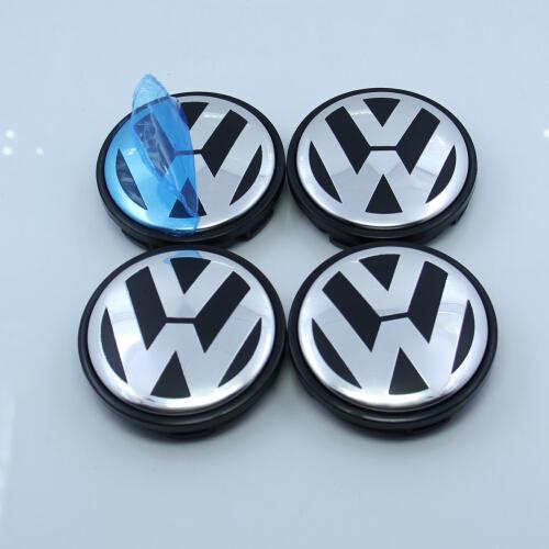 4 Pcs/set VW 55mm Wheel Center Caps Fits For Volkswagen Jetta Golf Cabriolet Citi Lupo Passat Vento Bora New Beetle Mk4(China (Mainland))