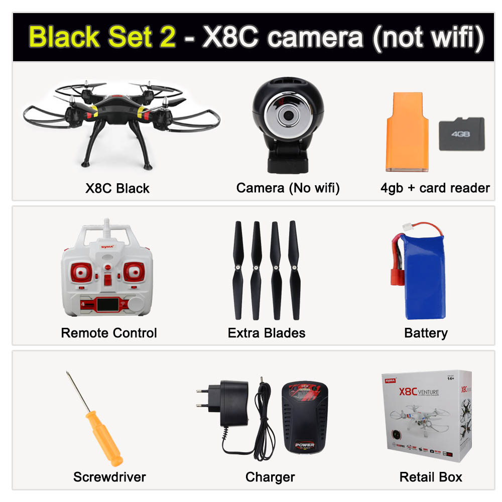 Syma X8C or X8W RC Quadcopter Drone Syma X8 serie X8G FPV WIFI Camera 2.4G 6Axis RTF drone RC Helicopter(China (Mainland))