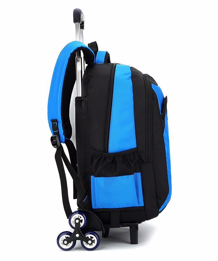 Kualitas tinggi Gadis tas sekolah Trolley Tas Sekolah Anak removable waterpoof Lipat Ransel boy Anak Bagasi Mochila Infantil