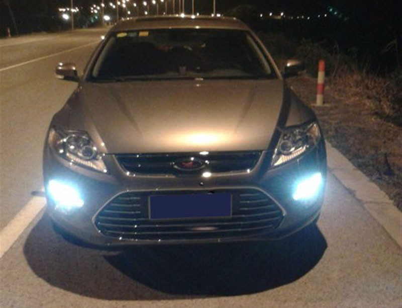 1:1Replacement Car LED Daytime running light Xenon White DRL with fog lamp cover for Ford Mondeo Fusion 2011 2012 2013