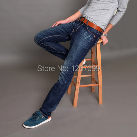 Free shipping 2015 new fashion electric mill cat claw marks hanging jeans casual men's long jeans pants Korean Slim(China (Mainland))