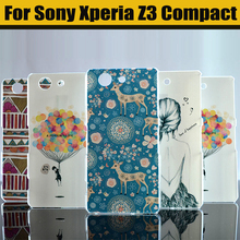 Buy JURCHEN Case Sony Xperia Z3 Compact Case Cute Cartoon Hard Cover Case SONY Xperia Z3 Compact Z3 mini M55W Phone Case for $1.41 in AliExpress store